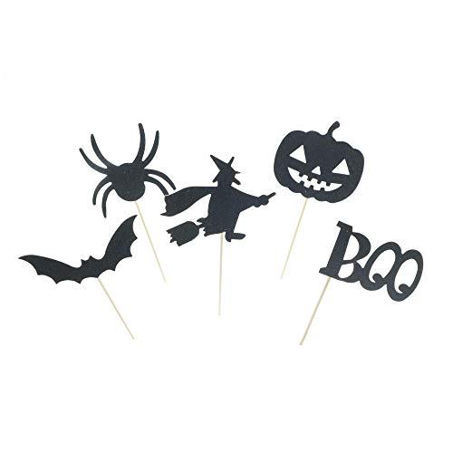 Dunhil 40 pcs Halloween Bat Pumpkin Spider Spirit Cupcake Toppers Mini Cake Toppers Toppers Party Decorative Accessories for Halloween Party ()