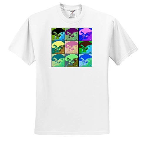 Lens Art by Florene - Elvis - Image of Collage of Nine Faces of Elvis in Cartoon Colors - T-Shirts - Toddler T-Shirt (2T) (ts_304487_15) White