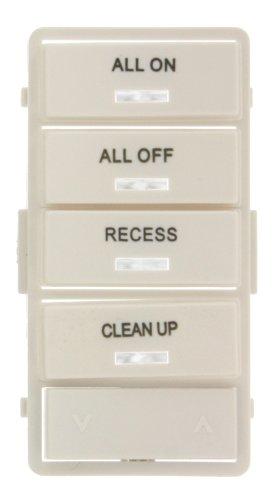 (Leviton VPSLB-S4W Vizia RF+ White Label Kit for VRCS4 4-Button Scene Controller)