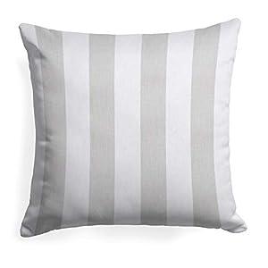 Glenna Jean First Flight Pillow-Grey Stripe, Blue, Standard