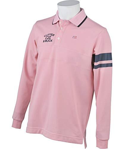 カッター&バック ゴルフウェア ポロシャツ 長袖 メンズ Wニット鹿の子長袖シャツ CGMMJB04 PK00 LL