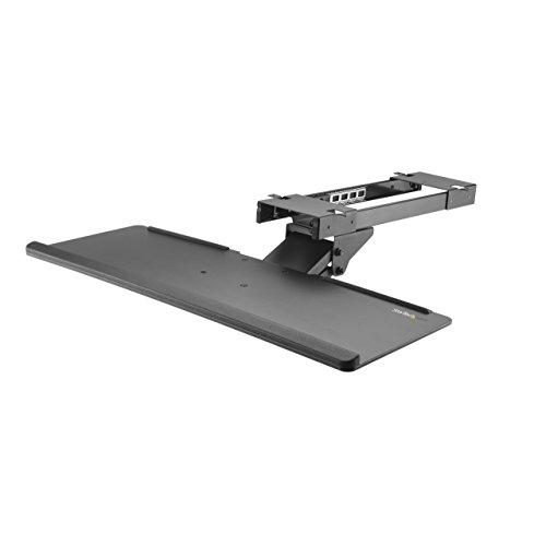 StarTech.com Under Desk Keyboard Tray - 26.4in Wide - Adjustable - Computer Keyboard Stand - Keyboard Shelf - Ergonomic Keyboard Tray