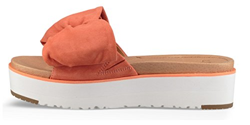 Pink Slides Women's Ugg 100 Joan In Leather Orange Women's dXtxqTxg