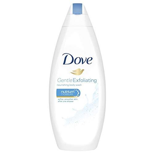 Dove Gentle Exfoliating Nourishing Body Wash - 4 Packs x 16.9 Fl.Oz / 500ml Each - International Version