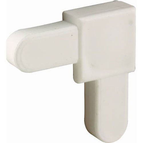 Prime-Line PL 14336 White Plastic, Mobile Home Screen Frame Corner, 1/4