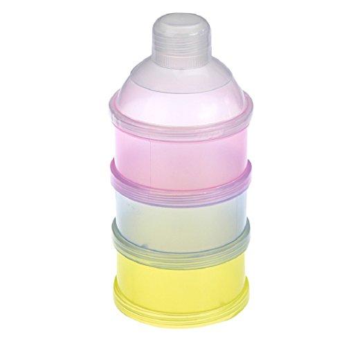 Ularmo 3 Schichten Portabel Säugling Baby Milchpulver Büchse Box Schachtel