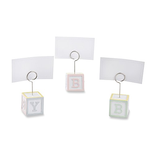 Kate Aspen 25300NA Baby Blocks Favor Place Card Holders (Set of 6)
