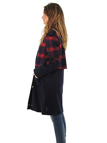 Armani Jeans Abrigo Manga larga larga Manga para mujer azul/rojo Venta Venta a0542f