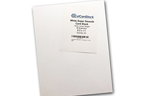 Cougar White 130# Double Thick Card Stock 8.5x11 - 50 Pk ()