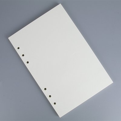 (Blank Refill Paper for 8.5 inch A5 6-Holes Cover Round Ring Binder File Folder pack of 2)