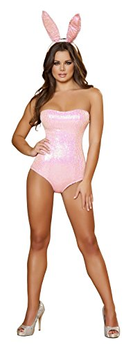 Bunny Babe Adult Costume Pink - (Hugh Hefner Girl Costume)
