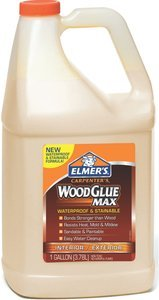 1gal Beige Elmers Interior/Exterior Wood Glue (Case of (Wood Glue 1 Gallon Bottle)