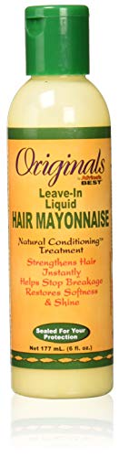 Africas Best Conditioner Originals Hair Mayonnaise Leave-In 6 Ounce (177ml) (Africas Best Organics Olive Oil Leave In Conditioner)