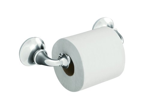KOHLER K-11274-CP Forté Toilet Tissue Holder, Polished Chrome