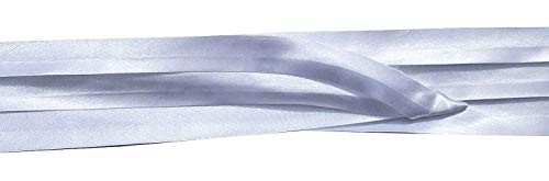 FQH Hat Band - 3-Pleats Lt.Weight Poly/Cotton, Polyester, or Satin with 2-End Hooks (White Satin)