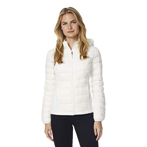 32 DEGREES Womens Ultra Light Down Packable Jacket, Winter White, X-Large