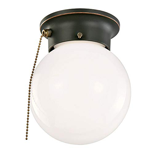 Design House 519264 1 Light Ceiling Light with Pull Chain, Oil Rubbed - Fixture Chain