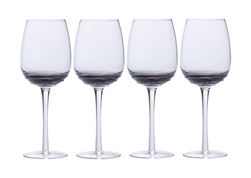 Mikasa Swirl Smoke Goblet (Set of 4), 17 oz, Glass