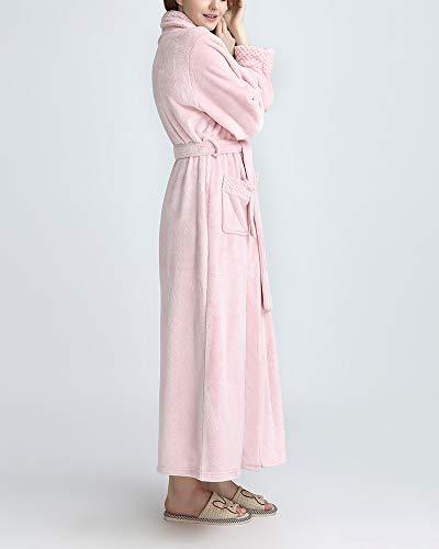 Soft Vello Spugna Uomo Pink Accappatoi Lussuoso In Pigiama Unisex Sezione Super Lunga Dianshaoa Accappatoio BXIHqZ