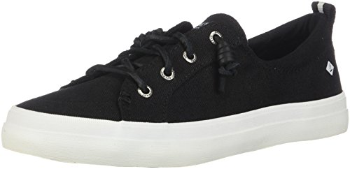 - Sperry Women's Crest Vibe Linen Sneaker, Black, 8 M US
