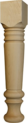 (Massive Farm Dining Table Leg in Knotty Pine - Dimensions: 29 x 5 inches)