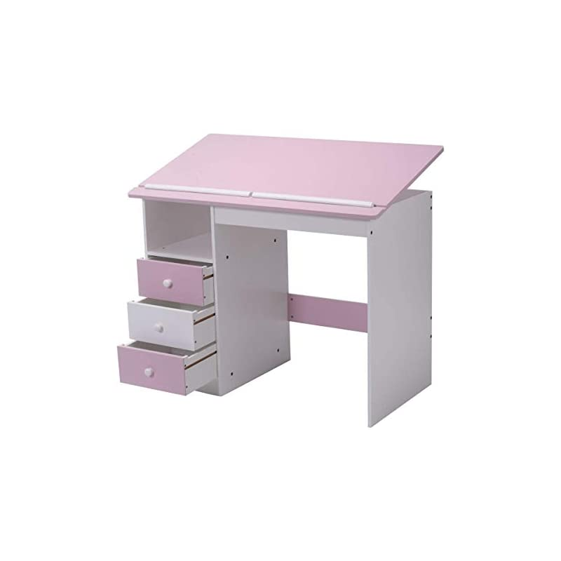 Tangkula Drawing Desk Drafting Table Adj