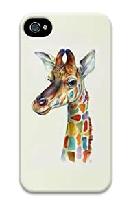 iPhone 6 plus 5.5 Case, Friendly Giraffe Colorful Personalized Case for iPhone 6 plus 5.5 3D PC Material
