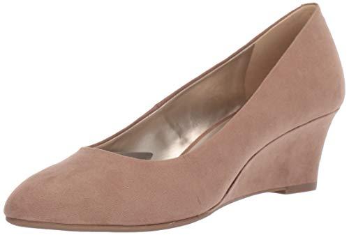 Bandolino Womens Fayola Wedge Heel Taupe Fabric 7 M
