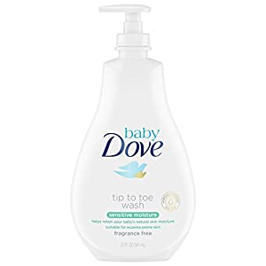 Baby Dove Wash, Sensitive Moisture, 20 oz