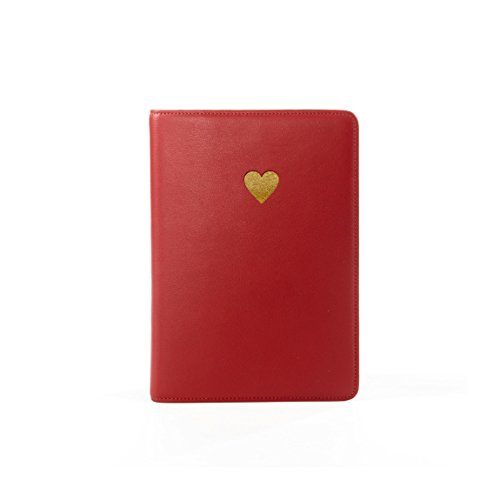 Grain Leather Leather - Red Apple (red) (Italian Heart Journal)