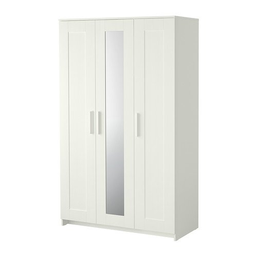 Brimnes Home Bedroom Wardrobeswardrobe With 3 Doors, White by Ikea