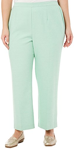 (Alfred Dunner Plus High Tea Short Pants 20W Short Pistachio green)