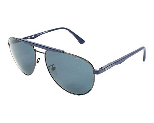 Police SPL364 SNFP Matte Gunmetal SPL364 Aviator Sunglasses Lens Category 3 - Usa Sunglasses Police