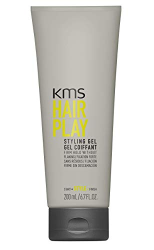 (KMS HAIRPLAY Styling Gel Flake-Free, Glossy Shine & Firm Hold, Long-Lasting Control, Unisex, 6.7 oz)