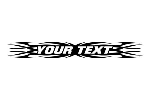 Sticky Creations - Design #161 Your Custom Text Personalized Customized Lettering Tribal Flame Swirl Windshield Decal Sticker Vinyl Graphic Window Banner Car Truck SUV | 36