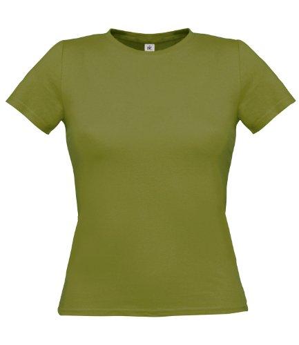 B&C Collection - Camiseta - para mujer Musgo Verde