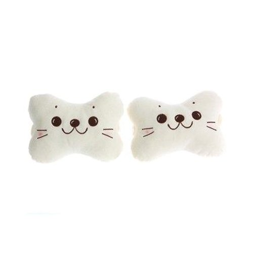 Cute Cartoon Sea Lion Car Headrest Pillow Neck Pillow Cushion 2pcs/pair (Lion Neck Pillow)
