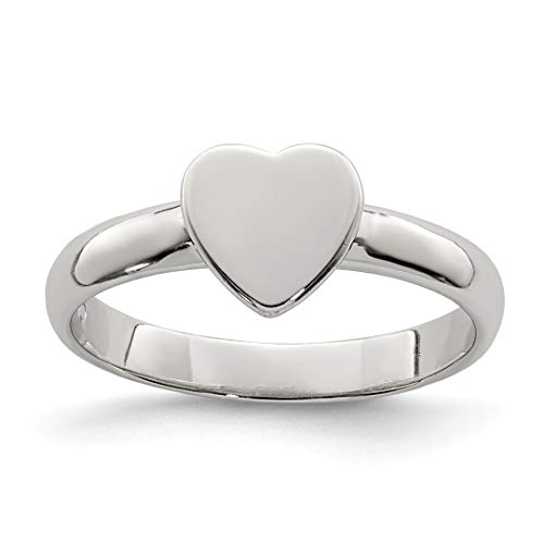 Baby Heart Topaz Ring - 925 Sterling Silver Heart Band Ring Size 3.00 Baby Fine Jewelry Gifts For Women For Her