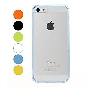 Transparent Plastic Case and TPU Frame for iPhone 5/5S , Green
