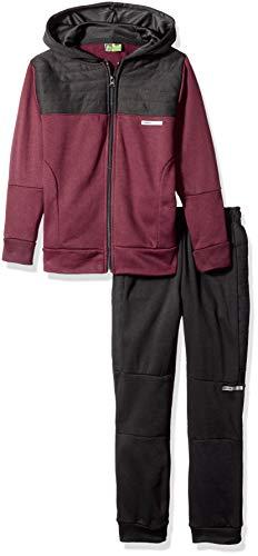 (RBX Boys' Toddler Fleece Zip Hoodie and Pant Set, Windsor Wine/Black, 4T )