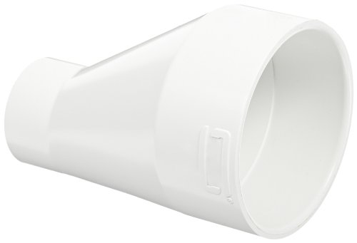 Spears 429-E Series PVC Pipe Fitting, Eccentric Coupling, Schedule 40, White, 4