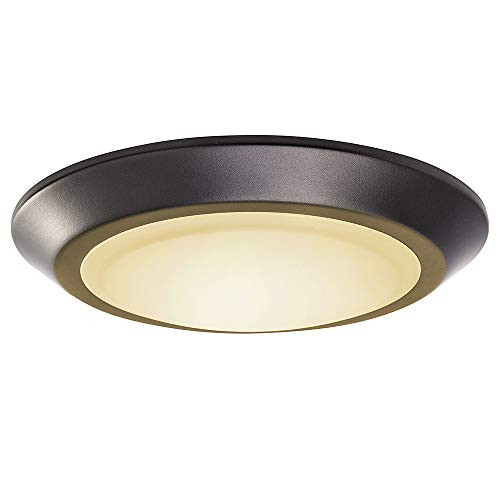(LED Light Fixtures Ceiling Flush Mount Ceiling Light Fixture Dimmable for Bedroom,Hallway,7.5 Inch 15W (150W Equivalent) Bronze 3000K,1)