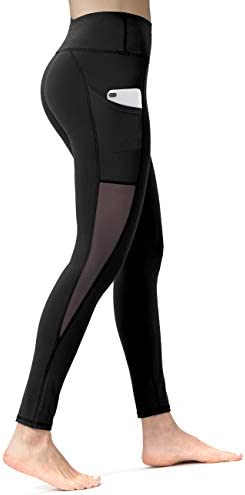 hot-selling official latest trends of 2019 popular brand ALONG FIT Women Mesh Leggings Side Pockets Gym Yoga Tights ...