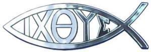 Christian Fish Emblem (Travelling Witness Car Auto Adhesive Emblem Sticker Christian Jesus Ixoye Fish Gift)