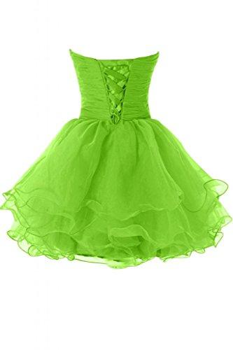 corte vestito Sunvary Verde della Costume Sweetheart Organza Hot Dress linea da Party Cocktail rrgYE1wqxR