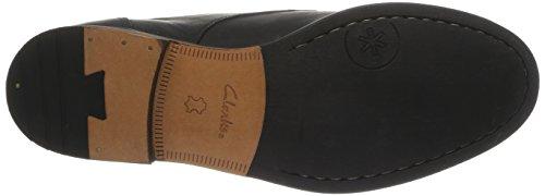 Clarks Exton Walk - Zapatos con cordones de cuero hombre Negro (Black Leather)