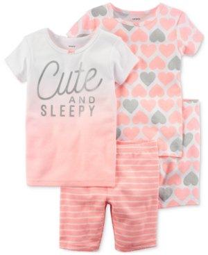 Carters - Set de Pijama de 4 Piezas para bebé niña de 6 Meses