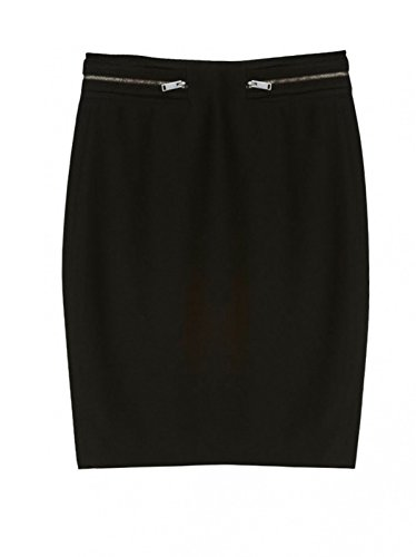 Hoss Intropia Damen Mini Rock mit Reißverschlüssen Negro N5tcW1wV