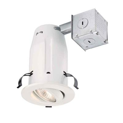 3 in. White Recessed Gimbal Kit