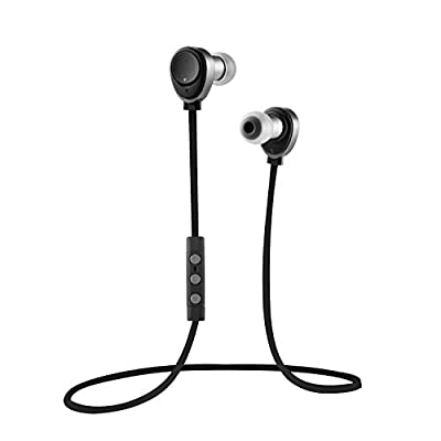 New Stylish Bluetooth CSR 4.0 Mini Lightweight Stereo Sports Bluetooth Earphones , Sweatproof / Comfortable Headphones with Crystal Sounds and Consummate Craft, High Sensitivety Mic Earbuds Super Suitable for Jogger, Running. Wireless Headsets with for 4